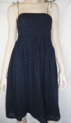 Womens Sz 4 Dress Sundress Babydoll Lined Batenburg Style Lace Shell Summer | eBay