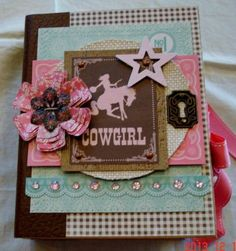 TPHH Premade Scrapbook Interactive Album Cowgirl Rodeo Theme Phyllis | eBay