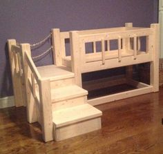 Dog bed and dog house combo, I think Teddy needs it.  Handcrafted on Etsy, $435.29