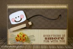 Crafty Kitten: Life Is Smore Fun With You Spinner Card Fun Fold Cards, Folded Cards, Cool Cards, Slider Cards, Interactive Cards, Scrapbook Cards, Scrapbooking, Cricut Cards, Cards For Friends