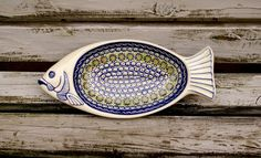 polish pottery fancy fish dish :D :D
