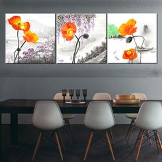 Find More Painting & Calligraphy Information about PF3143 Printed & Internal Framed 3 panel oil painting on canvas wall art pictures red flowers bloom in the countryside for home,High Quality painting sunset,China painting wooden picture frames Suppliers, Cheap painting bowl from Oriental Artwork on Aliexpress.com