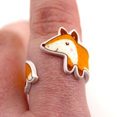 Fox Ring. Fox Wraparound Ring. Fox Jewellery. Gift Boxed.    A lovely fox to sit upon your finger and journey with you on your adventures! the
