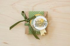 Loving this gift box made with the Hello Darling stamp set!