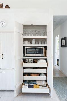 Pantry with microwave storage