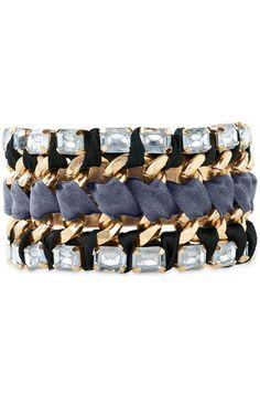 Stella & Dot Tempest Bracelet | Silk Ribbon, Brass & Gold Clasp Bracelet shop: www.stelladot.com/nicolecordova