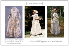 Reproduction 18th century gown  by LaraCorsets