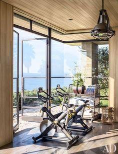 45 Ideas For Fitness Gym Interior Architectural Digest Dream Home Gym, Gym Room At Home, Home Gym Decor, Best Home Gym, Home Gyms, Dream Homes, Architectural Digest, Basement Gym, Garage Gym