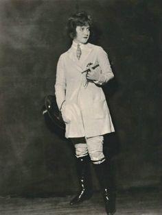 Francine Larrimore in a riding habit, 1920s.