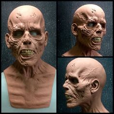― Immortal Masks and Immortal FXさん( 「Progress on our female fit zombie sculpture by Andrew Freeman. Zombie Face, Zombie Makeup, Sfx Makeup, Creature Feature, Creature Design, Sculpture Clay, Sculptures, Immortal Masks, Character Art