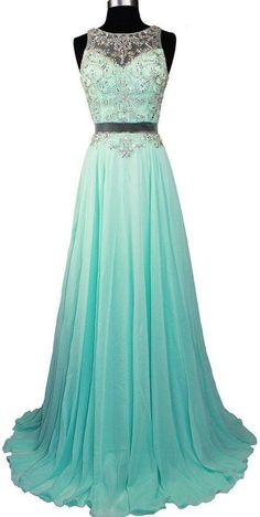 57554f2835 Fashionable Sexy Long Chiffon Prom Dresses Beaded Crystals Evening Gowns