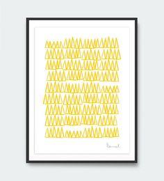 Abstract Art Prints Printable Minimal Art Nature by DanHobdayArt Yellow Wall Art, Yellow Walls, Modern Wall Art, Large Wall Art, Orange Art, Scandinavian Prints, Tree Print, Seascape Paintings, Abstract Wall Art