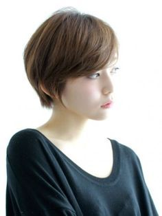 cut: longer pixie with side swept bangs