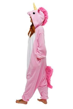 Unicorn Onesie with tail. Tailored out of soft fleece which is most comforting to touch and wear, it will have you snug and happy, while reflecting the right mix of the cool and cute quotient. Availab
