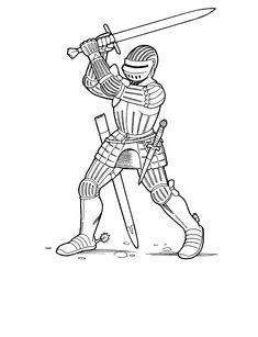 soldiers and knights coloring pages