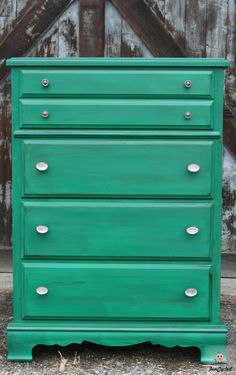 Kelly Green Dresser by FunCycled.com