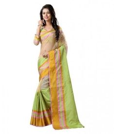 cabc6e57a6 Multi Color Casual Wear Tussar Silk Saree By ETHNIC MALL. Buy Multi Color  Casual Wear Tussar Silk Saree By ETHNIC MALL at low prices in India only on  ...