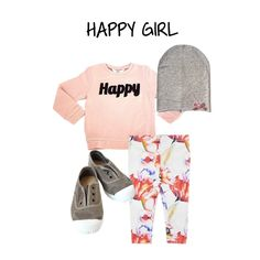 GIRLS LOOK - Sweater by Little Eleven Paris - Leggins by Diapers and Milk - Shoes by Natural World - Beannie by Drums & Lace