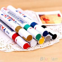 12 Colors Waterproof Car Tyre Tire Tread Rubber Metal Permanent Paint Marker Pen(China (Mainland))