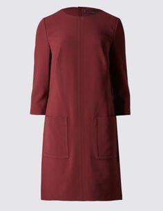 Patch Pocket Shift Dress | M&S