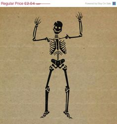 ON SALE 70 OFF Dancing Skeleton  No.621Km  by GraphicDreamz