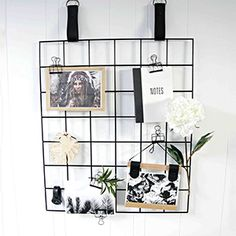 Unique Black Grid Mood Board by H+G Designs. Black Leather Straps with Metal Grid Board. Perfect as a mood board, display, pin up board, bulletin board. Metal Board, Metal Grid, Boys Bedroom Furniture, Homewares Online, Interior Stylist, Interior Walls, Interior Design, Online Gifts, Decoration