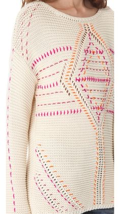 A little simple embroidery and a sweater goes from normal to amazing.