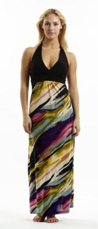 Halter Top Maxi Dress / Coverup in Silky 'ITY' Fabric in Sizes Small - 4x