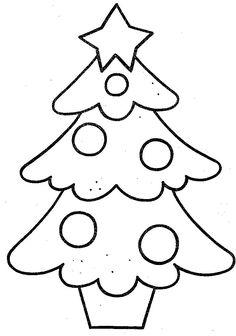 kleurplaten kerstboom - Google zoeken