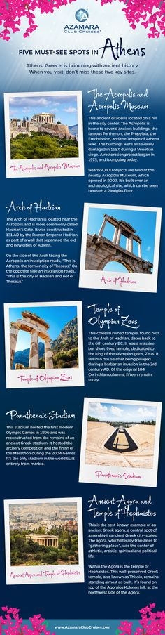 "What are the ""must see"" spots in Athens, Greece? This infographic lists the top five."