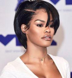 Short Hairstyles for Black Women Peinados cortos para mujeres negras Black Girls Hairstyles, Short Hairstyles For Women, Straight Hairstyles, Girl Hairstyles, Braided Hairstyles, Hairstyles Pictures, Stylish Hairstyles, American Hairstyles, Popular Hairstyles