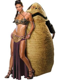 Princess Leia Slave and Jabba The Hutt Star Wars Couples Costumes - Halloween City