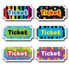 Motiva y recompensa el buen comportamiento de los estudiantes, el trabajo duro y sus logros, con estos tiquets. 216 tarjetas por paquete.