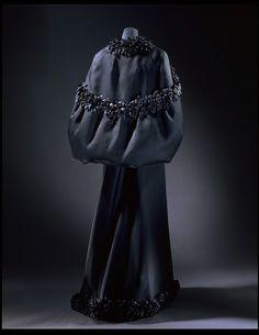 Evening dress and cape   Balenciaga, Cristóbal   V Search the Collections  1965. Woven silk gazar (Abraham).