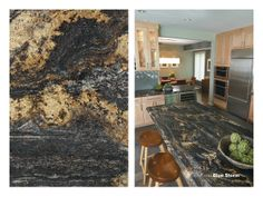 180fx® laminate - 3467 Blue Storm is a popular choice to add some drama to your kitchen island