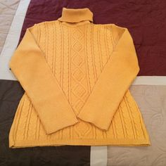 Daniel Hechter Paris pretty golden yellow sweater From French designer Daniel Hechter, this is a thick, good quality sweater. Worn a few times but in excellent condition. No flaws or pilling! Daniel Hechter Sweaters Cowl & Turtlenecks