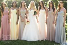 Cheap gown pink, Buy Quality gown cover directly from China gown picture Suppliers: 2016 Hot Selling Summer Beach Bridesmaid Dresses Strapless Wedding Gown vestidos para festa Prom Formal Party Gown Mismatched Bridesmaid Dresses, Wedding Bridesmaids, Wedding Gowns, Pastel Bridesmaids, Party Gowns, Allure Bridesmaid, Rainbow Bridesmaids, Bridesmaid Colours, 2017 Wedding