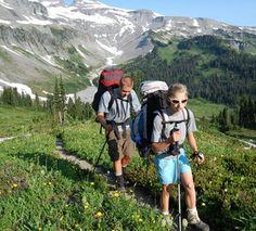 The Wonderland Trail around Mt Ranier.