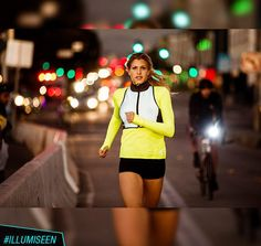 Be safe on evening and morning runs by wearing #LEDbelt by #Illumiseen