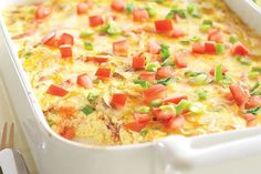 Crustless Bacon and Cheese Quiche--Fresh green onions, mushrooms and tomatoes team up with eggs, bacon, sour cream and cheese for a mouthwatering quiche without the fuss of the crust. Bacon Quiche, Cheese Quiche, Frittata, Quiche Crustless, Egg Quiche, Cheddar Cheese, Spinach Quiche, Swiss Cheese, Breakfast Dishes