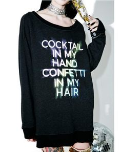 Cocktails And Confetti Sweater