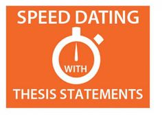 Speed Dating with Thesis Statements | DWRL Lesson Plans