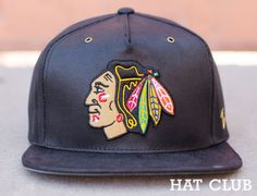 7b8d710d169 Zephyr Washed Leather NHL Snapback Caps   HAT CLUB 5 Panel Hat