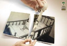 Picture-Repairing Adhesive Ads : Scotch Crystal Tape campaign
