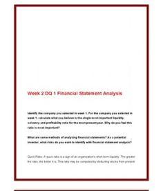 ACC561   ACC 561 (VERSION 4)   Week 2 DQ 1 Financial Statement Analysis --> http://www.scribd.com/doc/141686228/acc561-acc-561-version-4-week-2-dq-1-financial-statement-analysis