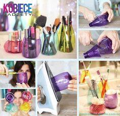 Zobacz jak przy pomocy żelazka zrobić pojemniczki na kosmetyki!!!