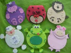 Pin by isabelle sirls on kids фетр, поделки, магниты Kids Crafts, Foam Crafts, Arts And Crafts, Paper Crafts, Cd Recycle, Record Crafts, Felt Bookmark, Camping Crafts, Animal Crafts
