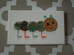 Baby Caterpillar #18 Fabric Wall Art by CottonwoodCove on Etsy