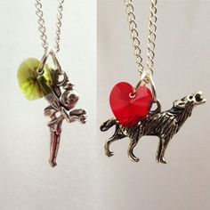 Once Upon A Time Character Necklace Tinker Bell Red by KDDezsigns, £9.50