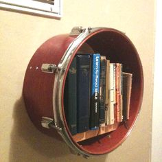 1000 images about music theme on pinterest guitar for Repurposed drum shelf
